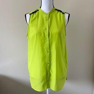 Michael Kors Sleeveless Neon Top size 8